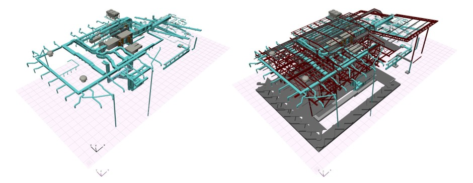 Imported MEP and structural data of the Len Lye Centre in ARCHICAD, Patterson Associates